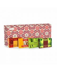 Vaadi Herbals Royal Indian Herb Collection 4 Premium Herbal Handmade Soap Gift Box-(75 gms x 4)