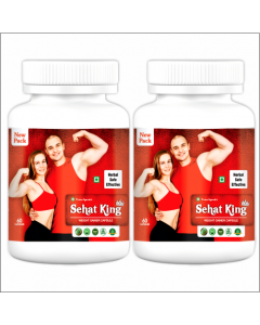 Kaahan Ayurveda Sehat King-60Capsules Pack of 2pc