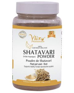 Vitro Naturals Certified Organic Shatavari Powder-100gm