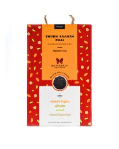 Butterfly Ayurveda Shubh Saanjh Chai With Assam Black Tea Leaves-200gm