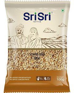 Sri Sri White Sesame Seeds (Til)-100gm