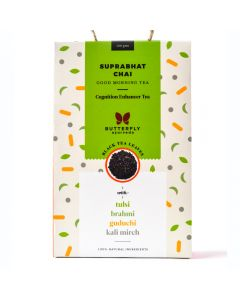 Butterfly Ayurveda Suprabhat Chai with Assam black tea leaves-100gm with Tulsi