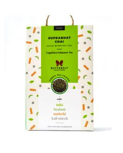 Butterfly Ayurveda Suprabhat Chai with Darjeeling Green Tea Leaves-100gm