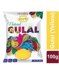 Patanjali Aastha Gulal Yellow-100gm