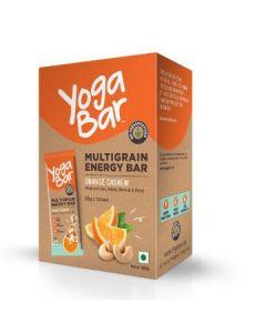 Yogabar Multigrain Energy Bar Cashew Orange-6pc