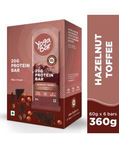 Yogabar Whey Protein Bar Hazelnut Toffee 360gm-6pc