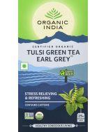 Organic India Tulsi Green Tea Earl Grey-25 Tea Bags