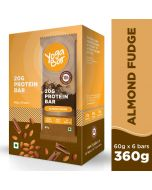 Yogabar Whey Protein Bar Almond Fudge 360g-6pc