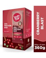 Yogabar Whey Protein Bar Chocolate Cranberry 360gm-6pc