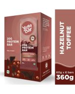 Yogabar Whey Protein Bar Hazelnut Toffee 360gm-6pc